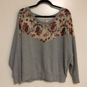 Free people lace front sweatshirt.
